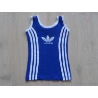 Adidas blauw/ wit singlet mt 98