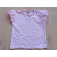 Hema roze T-shirt pofmouwtjes mt 80