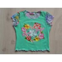 """Akou Akou lichtgroen T-shirt """"bloemen"""" mt 92"""