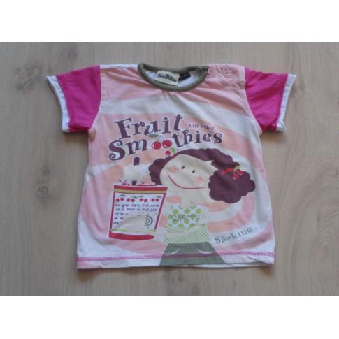 Villa Happ t-shirt roze wit fruit...