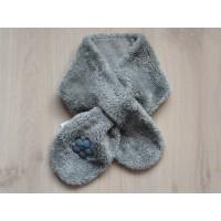 Hema sjaal baby peuter plûche grijs 90 cm