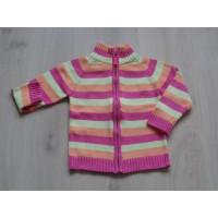 Palomino roze, oranje, groen gestreept vest mt 110
