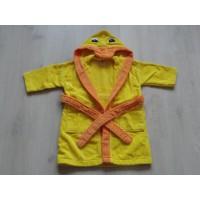"Baby Club geel, oranje badjas ""eend"" mt 80 - 86"