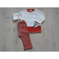 "Baby Club 2 dlg set off white/ roestbruin ""sneeuwpop"" mt 86"