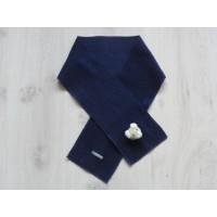 "Navyblauwe fleece sjaal ""beer"" 103 cm"