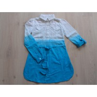 Guess Jeans blouse blauw/ wit mt 140
