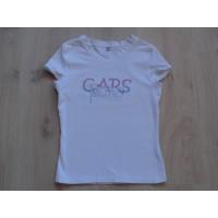 """Cars Jeans T-shirt wit """"velours tekst"""" mt 12"""