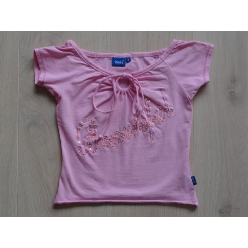 "Keds t-shirt roze ""beautiful"" mt 116"