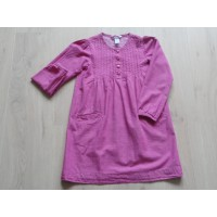 "H&M jurk/ tuniek roze ""hartvormige knoopjes"" mt 122"
