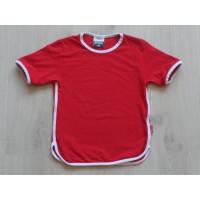 "SPNX Sport t-shirt rood ""witte boorden"" mt 116"