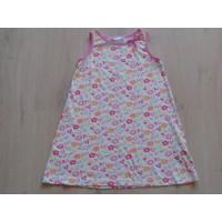 "H&M zomerjurk wit/ roze/ oranje ""bloemen, vlinders"" mt 110"