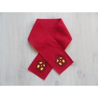 Sinterklaas fleece sjaal rood peuter/ kleuter 100 cm