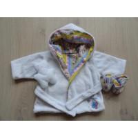 Zapf Creations Baby Born badjas slofjes knufje