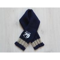 Pointer Baby sjaal gebreid navy blauw 82 cm