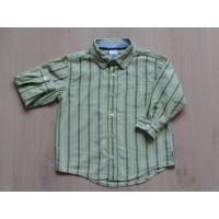 Old Navy blouse groen wit gestreept maat 98