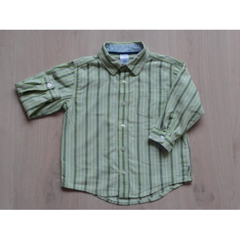 Blouse Overhemd.Old Navy Blouse Overhemd Groen Wit Gestreept Maat 98