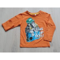 Palomino longsleeve oranje 'Cranck it up baby' maat 98