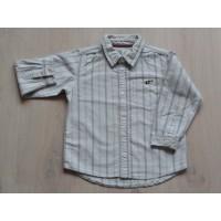 Old Navy blouse / overhemd gestreept lichtblauw, bruin, oranje maat 98