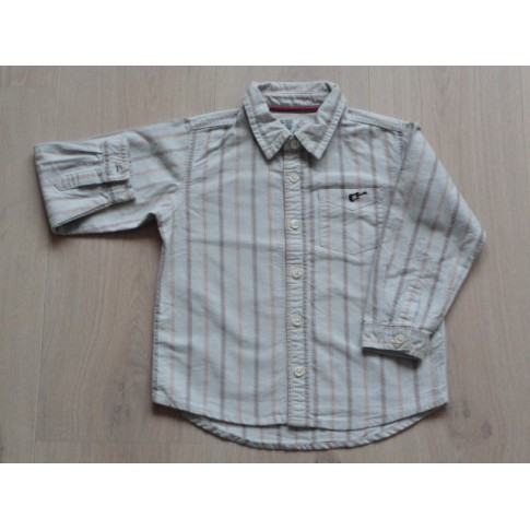 Blouse Overhemd.Old Navy Blouse Overhemd Gestreept Lichtblauw Bruin Oranje Maat 98