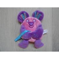 Difrax speenhouder muis velours roze paars