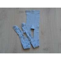 Maillot ijsblauw bloemetjes maat 128 - 134