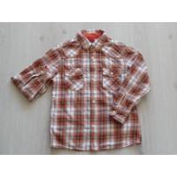 Skhuaban Zara bloes flanel oranje geruit maat 110 - 122