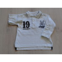 Zara Baby rugby polo sweater off white maat 74