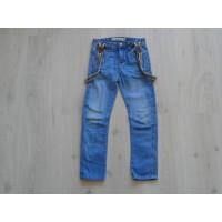 Denim Co spijkerbroek bretels vaal effecten maat 116