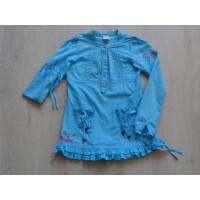 Vingino blouse azuurblauw bloemen maat 146 - 152