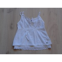 Jilly top wit broderie maat 116