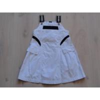 Jottum jurk katoen wit zwart maat 110