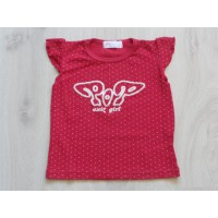 Exit T-shirt rood stipjes POP Exit girl maat 116