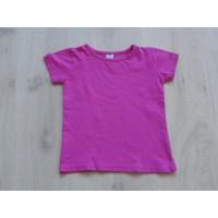 Hema T-shirt fuchsia maat 110 - 116