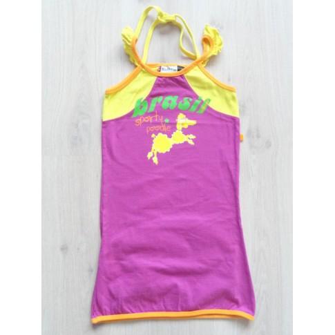 Villa Happ tuniek jurk roze geel maat 134