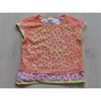 Oilily T-shirt roze oranje bloemen maat 140