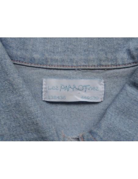 Les Parrotines jas spijkerjas licht stras maat 104