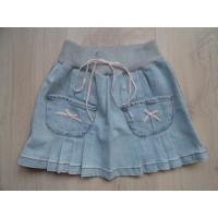Blumarine Baby plooirokje jeans lichtblauw mt 110