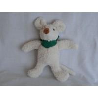Sigikid Persil muis knuffel ecru groen sjaaltje 17 cm