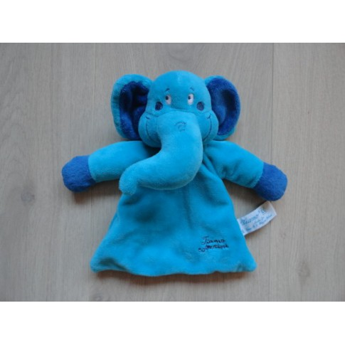 Tiamo knuffeldoek Olli Olifant blauw