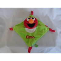 Tiamo knuffeldoekje Elmo velours 19 x 19 cm