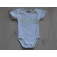 Picco Mini romper wit Mama's liefste engeltje maat 6 maanden