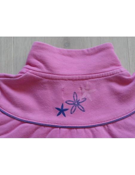 Name it sweatvest roze regenboog bloemen maat 116
