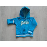 Dutchy sweatvest turqouise zilver Dutchy sports maat 116