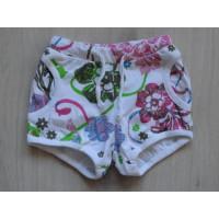 Korte broek wit bloemen groen roze blauw maat 92 - 98