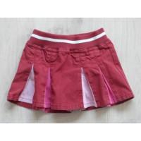 Hema plooirokje rood roze lichtroze maat 86