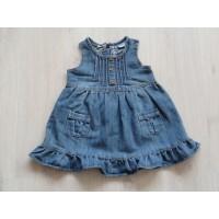 Baby Blue jeansjurk spijkerjurk blauw plooien maat 86