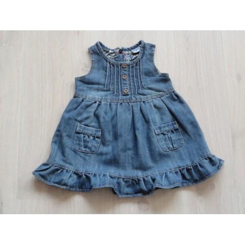 6adc003e16d035 Baby Blue jeansjurk spijkerjurk blauw plooien maat 86