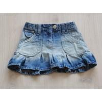 Girls spijkerrok jeans rok blauw plooien verwassingen maat 98