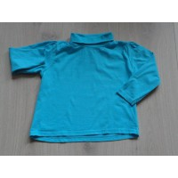 Lupilu longsleeve azuurblauw met col maat 86 - 92