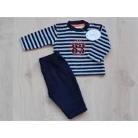 Nieuw! Feetje badstof pyjama navy/ lichtblauw mt 56